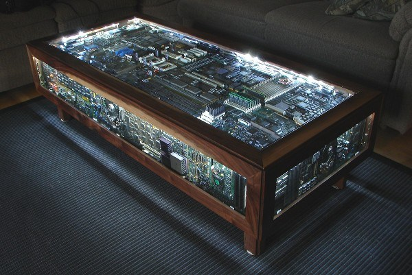 Table Made From Old PC Boards