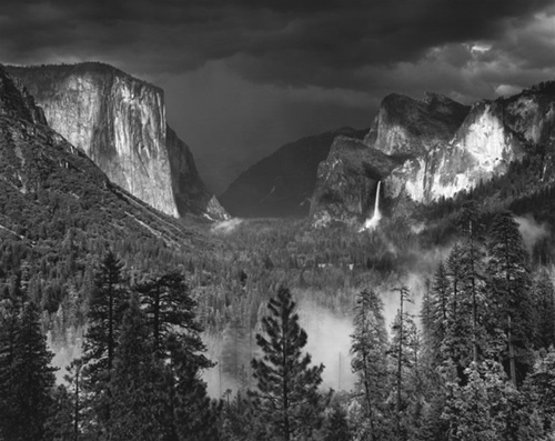 Ansel Adams between the Mountains