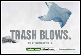 trash blows