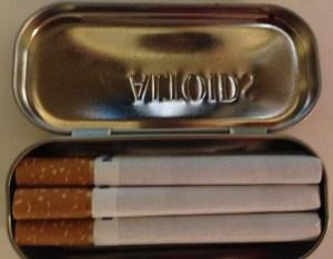 Altoids Tin cigarette case
