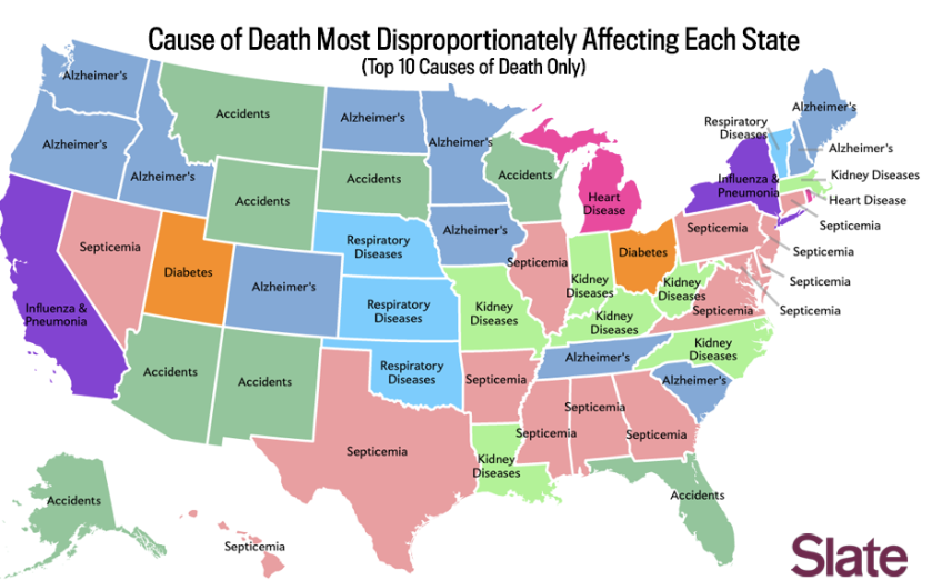 Map On How Youre Going To Die