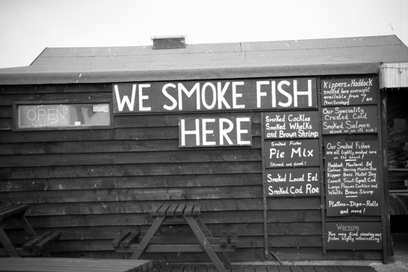 Fish Hut hut in Black and White